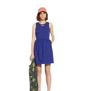 Blue Fit Flare Afternoon Dress